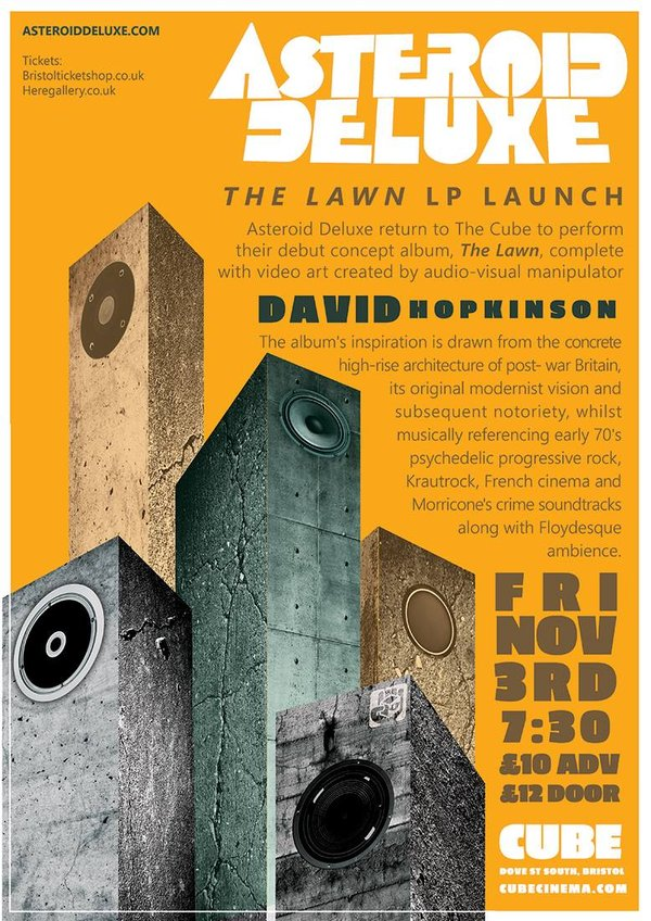 Picture for event Asteroid Deluxe's 'The Lawn' (ALBUM LAUNCH) with bespoke visuals from David Hopkinson